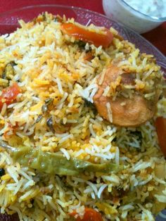 Bombay Biryani is the most popular and most loved biryani, full of flavors and lovely aroma this recipe will surely tantalise your taste buds. Veg Recipes, Side Dish Recipes, Indian Food Recipes, Asian Recipes, Vegetarian Recipes, Chicken Recipes, Cooking Recipes, Kitchen Recipes, Recipies