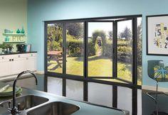 Gallery of bi-folding doors, sliding doors & skylights Glass Extension, Folding Doors, Exterior Doors, Conservatory, Contemporary, Modern, Skylights, Windows, Living Room