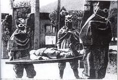 Led by Lieutenant-General Ishii Shiro, 3,000 Japanese researchers working at Unit 731's headquarters in Harbin infected live human beings with diseases then eviscerated them without anesthesia to see how the diseases infected human organs. The Japanese would test new biological weapons such as plague cultures or bombs filled with plague-infested fleas on them. Humans were locked inside pressure chambers to test how much the body could take before their eyes popped out.