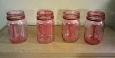 Omg. DIY PINK mason jars! Woohoo!