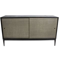 Paul McCobb for Winchendon Planner Group Credenza with Grasscloth doors, ca.1950's