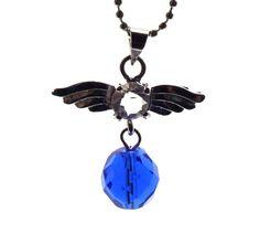 Inspiración Ángel De La Guarda Siberiano Azul Cuarzo Colgante De Cristal