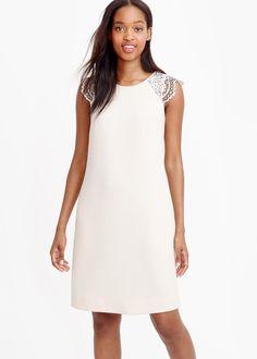 edged lace cap-sleeve dress