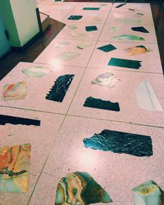 How to create a terrazzo print on almost anything plus diy terrazzo pink terrazzo flooring solutioingenieria Image collections