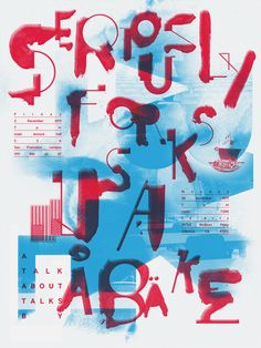 typeonly:  Seriously Forks, poster submitted and designed by Anton Pearson (2011) –Type OnlyUnit Editions