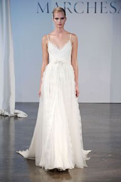 Loving this whimsical wedding dress we picked up from Marchesa Bridal Spring 2014