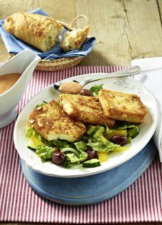 Unser beliebtes Rezept für Gebratener Feta in knuspriger Mandelhülle auf Salat und mehr als 55.000 weitere kostenlose Rezepte auf LECKER.de.