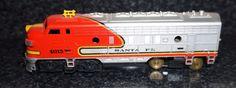 TYCO H-O Santa Fe Diesel Engine Locomotive Train HO Scale Vintage Train EUC JB #Tyco