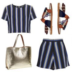 Beach Jaunt Head to the beach in a nautical set and fringed flats. This reversible tote adds polish at the beach and the airport.
