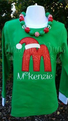 Snugglebugsdesigns2@gmail  Santa letter m w/ name