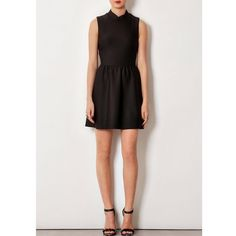 TOPSHOP Black Neoprene Dress Black high neck / mock turtle neck scuba skater dress. Topshop Dresses Midi