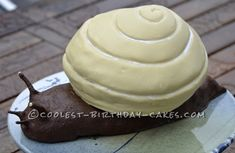 Coolest Snail Cake... This website is the Pinterest of birthday cake ideas