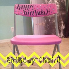 """See how this teacher created a DIY """"happy birthday"""" chair to allow her birthday student to feel special for the day! This would be great in ANY elementary classroom! {preschool, Kindergarten, 1st, 2nd, 3rd, 4th, 5th, and 6th grade classroom approved!!}"""