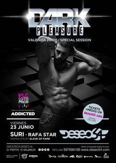 Fiestas de Orgullo este fin de Semana en Deseo54: ★ VIERNES ★: DARK PLEASURE Valencia Pride