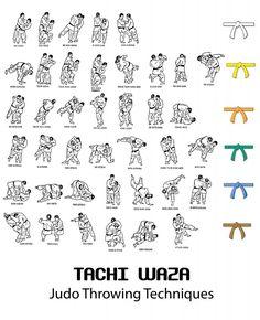 Judo Throwing Techniques & Belts                                                                                                                                                                                 Más