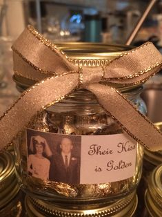 50th Wedding Anniversary Party Favor--Their Kiss is Golden