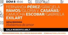 Camucha Escobar en La Feria Internacional del Libro de Buenos Aires