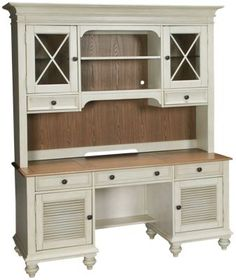 Riverside-Coventry-Riverside Coventry 2 Door 3 Drawer Credenza with Hutch - Jordan's Furniture