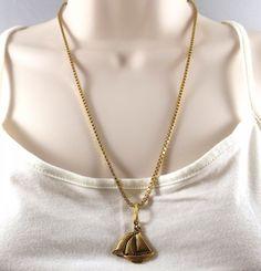 Pin Me! Golden Sailboat Pendant by Linda Dunn Or Buy Me on URCrafti.com