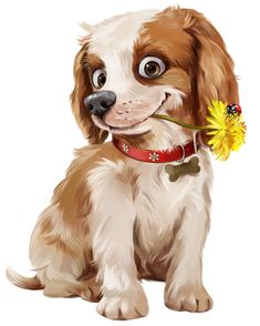 Find Happy Puppy Illustration stock images in HD and millions of other royalty-free stock photos, illustrations and vectors in the Shutterstock collection. Thousands of new, high-quality pictures added every day. Cute Animal Illustration, Cute Animal Drawings, Cute Drawings, Animals And Pets, Baby Animals, Cute Animals, Cross Paintings, Dog Paintings, Puppy Flowers