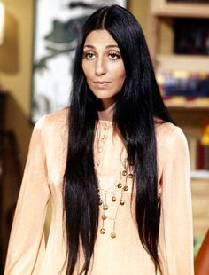 Cher had luxurious tresses that fell to her waist.