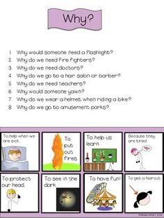 SPEECH THERAPY Wh-Question w/ visual answers autism Who Wh Speech Therapy Activities, Speech Language Pathology, Language Activities, Speech And Language, Autism Activities, Articulation Activities, Why Questions, This Or That Questions, Play Therapy Techniques
