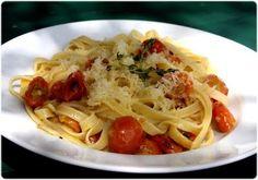Elviras Bistrot: Fettuccine com tomate-cereja grelhado