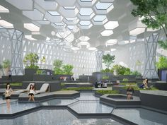 Communication and recreational space ECOSYSTEM. Best Picture For Office Architecture mod- Architecture Office, Concept Architecture, Landscape Architecture, Architecture Design, Commercial Architecture, Ecosystems Projects, Commercial Complex, Futuristic Interior, Community Space