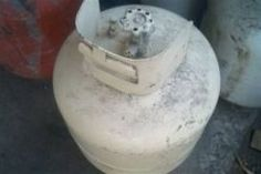 old propane tank (with old propane valve) Grill Parts, Metal Crafts, Grandparents, House, Grandmothers, Home, Homes, Houses