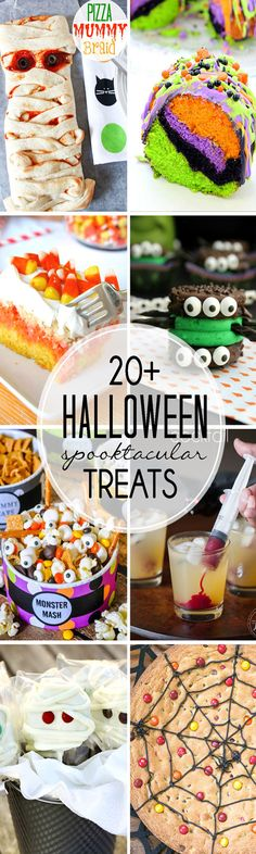These 20+ Fun Halloween recipes would all be perfect for your Halloween party or fun things to make with your kids.