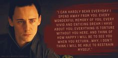 """Loki's Dirty Whispers - Submission: """"I can hardly bear everyday I spend away from you."""""""