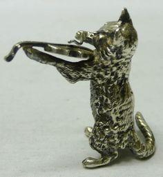 Vintage серебряный кот - waxantiques