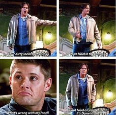 'It's not food anymore Dean! It's Darwinism.' Sam Winchester #supernatural