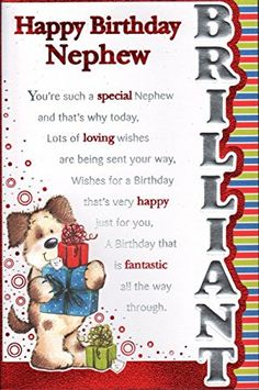 Happy Birthday Nephew Wishes Messages Greetings Cards