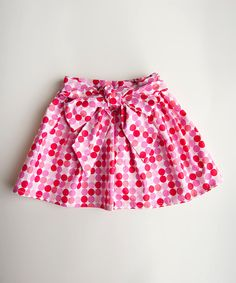{Pink Polka Dot Skirt - Infant, Toddler & Girls by Trendy Ties}