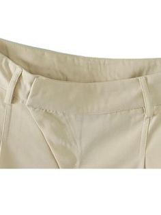 Shop Oblique Zip Front Pants in Beige from choies.com .Free shipping Worldwide.$28.99