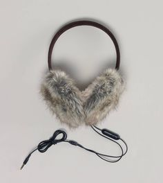 Earmuffs & headphones that plug into your iPhone. Look cute while on the phone or listening to music. Must have!