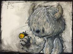 Wonderment - Art by Fabio Napoleoni Monster Illustration, Illustration Vector, Monster Drawing, Monster Art, Cute Monsters, Pop Surrealism, Magical Creatures, Kawaii, Rock Art