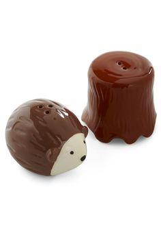 Hedgehog Your Bets Shaker Set - Brown, Kawaii, Dorm Decor, Quirky   http://www.modcloth.com/shop/kitchen-gadgets/hedgehog-your-bets-shaker-set