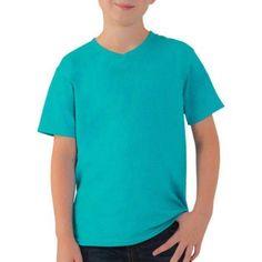 Fruit of the Loom Boys' Short Sleeve V-Neck Tee, Size: XL, Blue