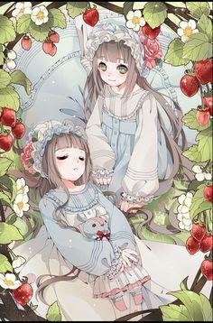 anime and girl image Cute Anime Pics, Anime Girl Cute, Kawaii Anime Girl, Anime Art Girl, Manga Girl, Anime Girls, Anime Siblings, Anime Sisters, Anime Child