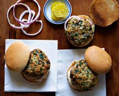 Turkey-Spinach Sliders   *To keep these Turkey-Spinach sliders juicy, don't pack the meat too tightly.