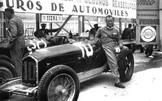GP SPAIN - 1933 , Alfa Romeo P3 #10 of Luigi Fagiolli (Second place)