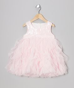 Take a look at this Pink Sequin & Tulle Dress - Infant, Toddler & Girls on zulily today!