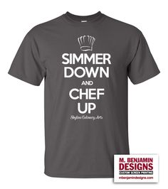 Skyline High School Culinary Arts Program, they're cookin' with style!  #customapparel #customscreenprinting #culinary #chefup #mbendesigns #customshirts