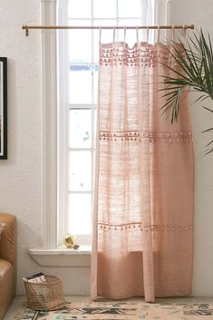 Shop Averi Pompom Gauze Window Curtain at Urban Outfitters today. We carry all the latest styles, colors and brands for you to choose from right here. Small Window Curtains, Diy Curtains, Kitchen Curtains, Window Panels, Bedroom Curtains, Panel Curtains, Patterned Curtains, Window Blinds, Modern Curtains
