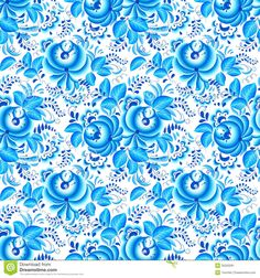floral vetor azul - Pesquisa Google