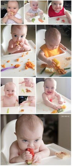 Our experiences with baby led weaning - how one mother started with her preemie baby. The new way to start solids with your 6 month old!
