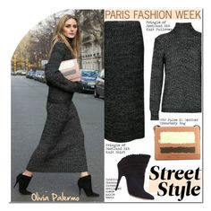 """""""PFW Street Style: Olivia Palermo"""" by helenevlacho ❤ liked on Polyvore featuring VBH"""
