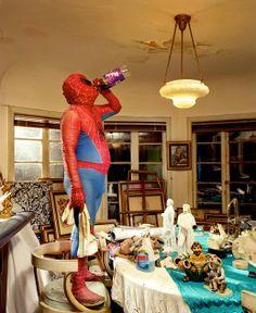 Le Bouquinovore: Super Heroes At Home - La vie quotidienne de nos Super Héroes